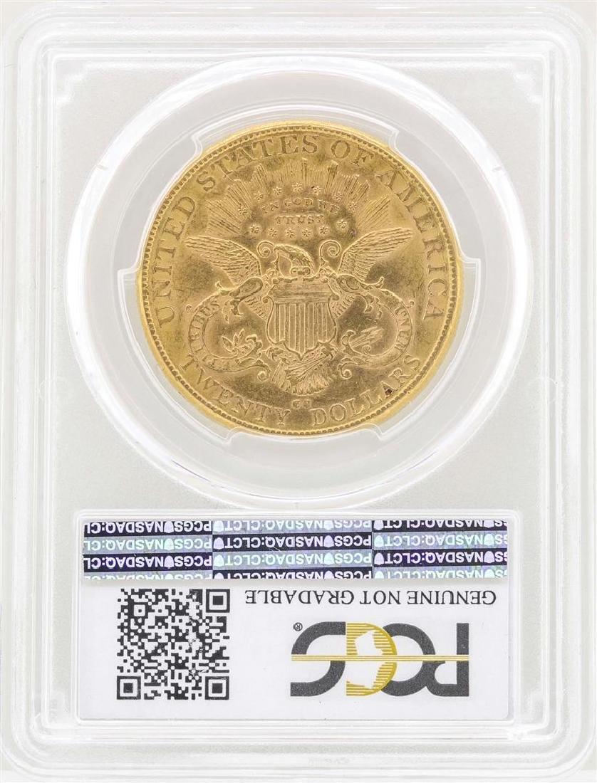 1890-CC $20 Liberty Head Double Eagle Gold Coin PCGS AU - 2