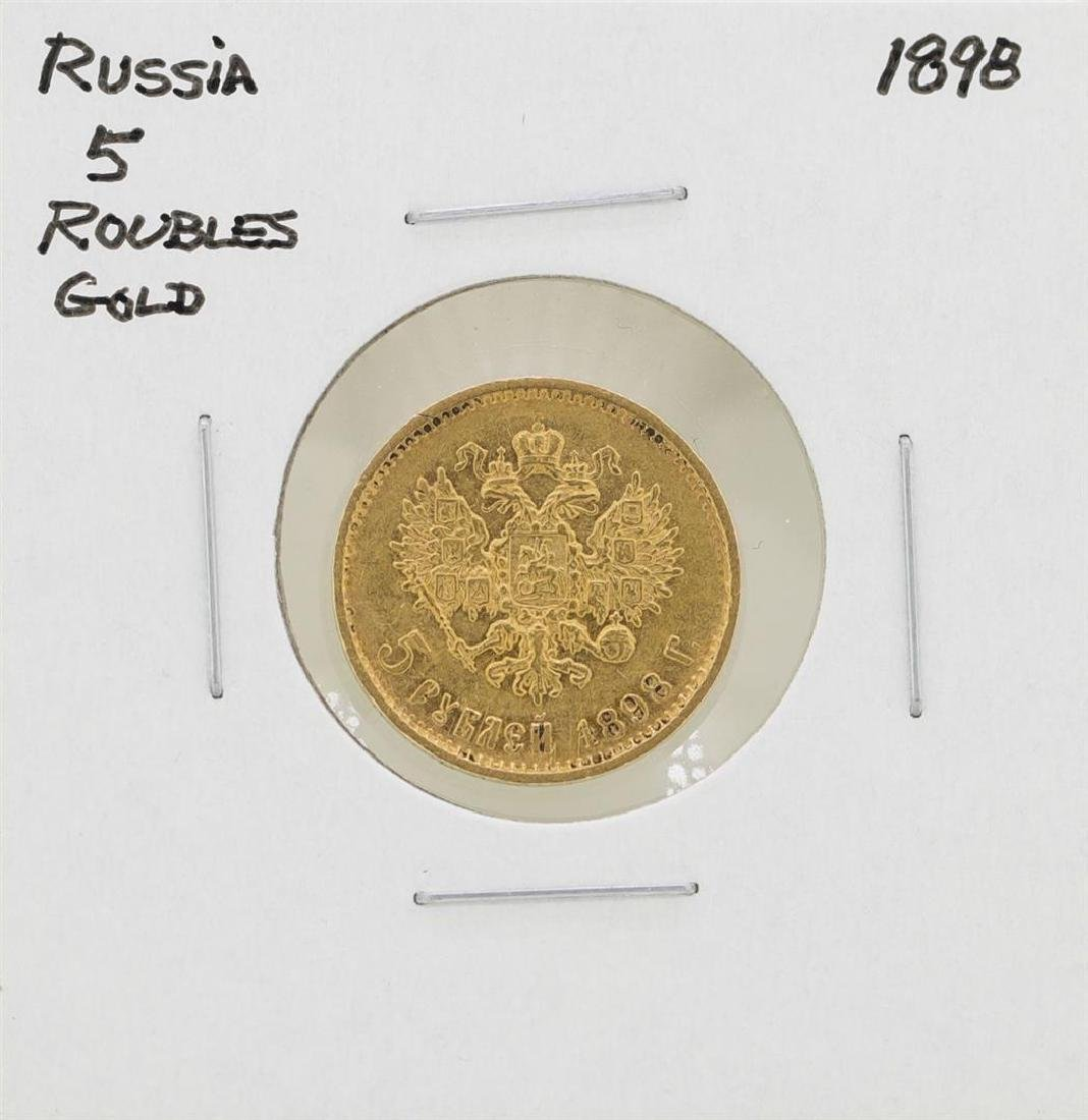 1898 Russia 5 Roubles Gold Coin