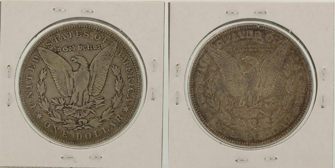 Lot of 1889-1890 $1 Morgan Silver Dollar Coins - 2