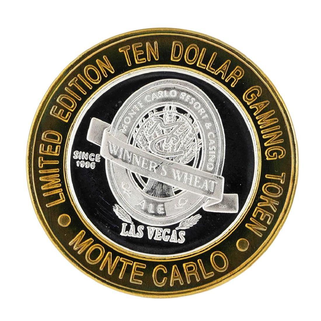 .999 Silver Monte Carlo Las Vegas, Nevada $10 Casino - 2