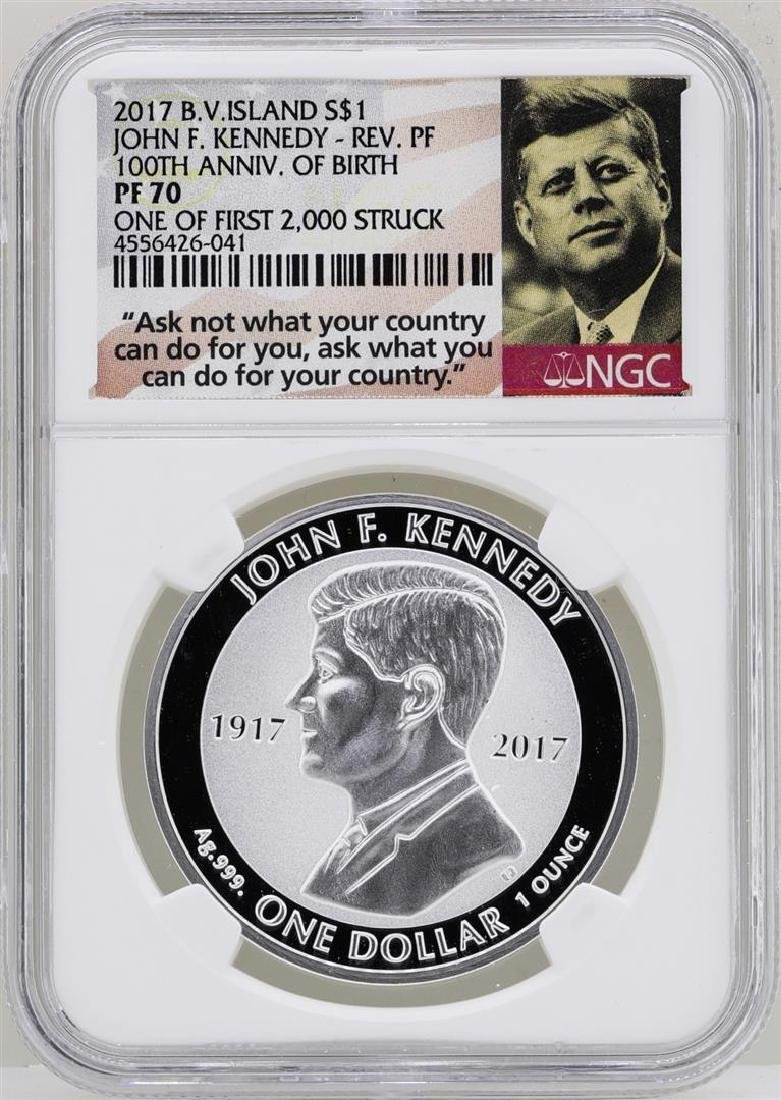 2017 British Virgin Islands $1 John F. Kennedy Reverse