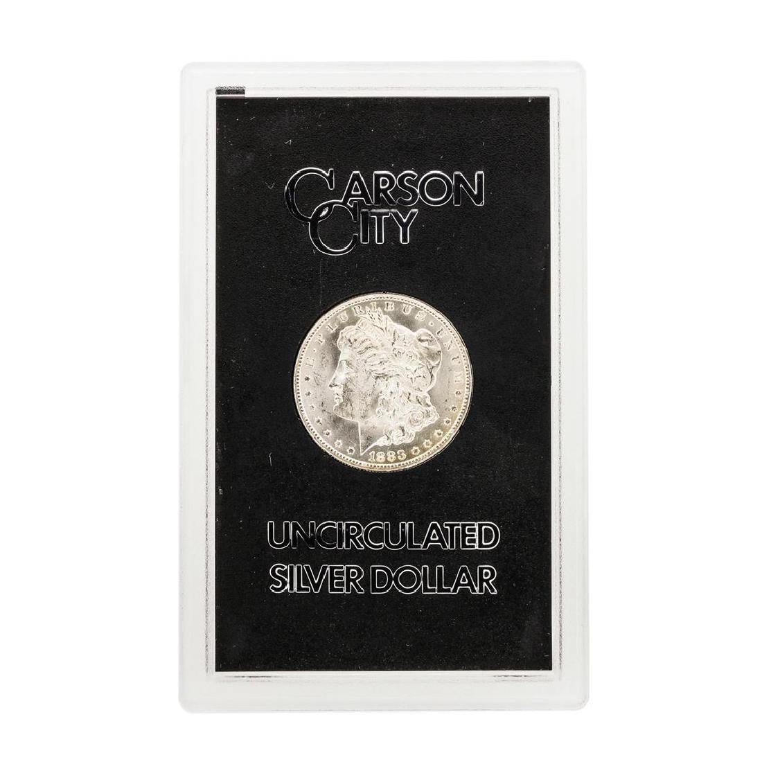 1883-CC $1 Morgan Silver Dollar Coin GSA - 2