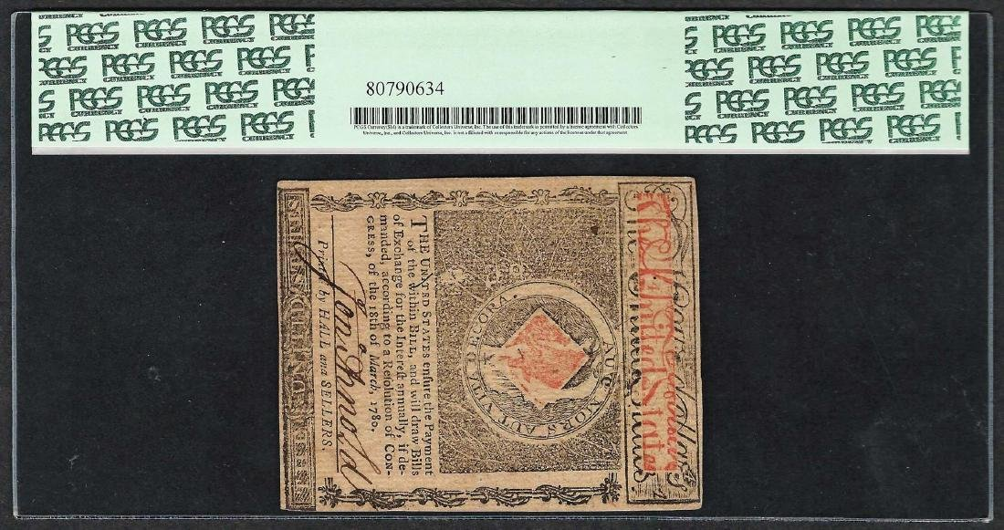 July 2, 1780 $4 Rhode Island Colonial Currency Note - 2