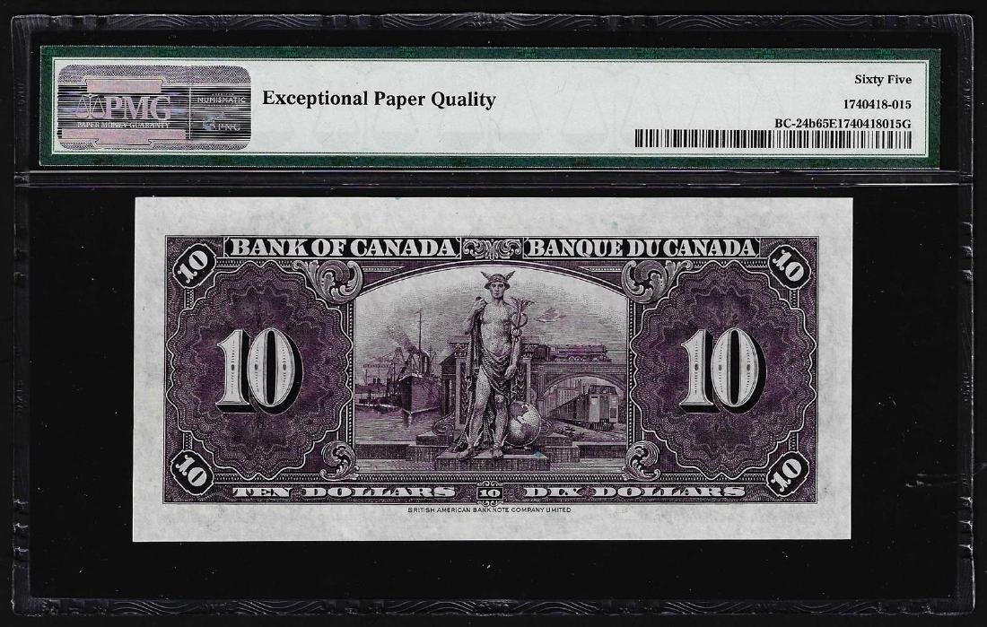 1937 $10 Bank of Canada Note BC-24b PMG Gem - 2