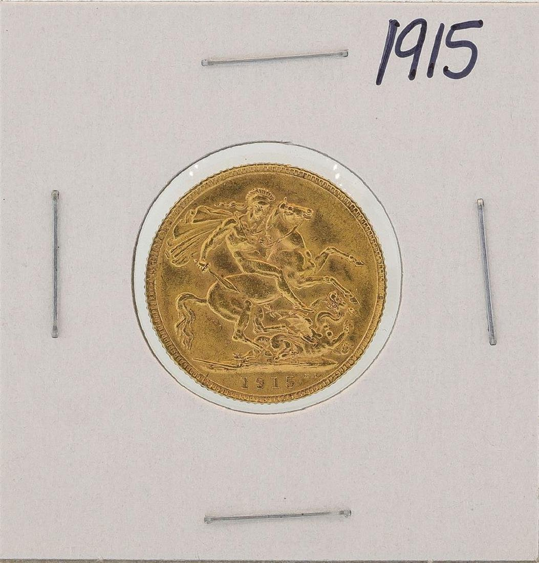 1915 Great Britain Sovereign Gold Coin