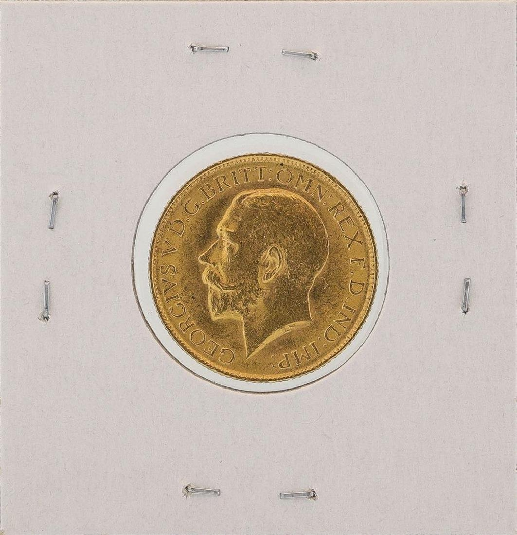 1915 Great Britain Sovereign Gold Coin - 2