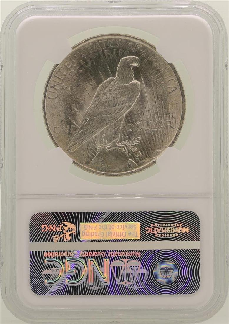 1924 $1 Peace Silver Dollar Coin NGC MS63 - 2