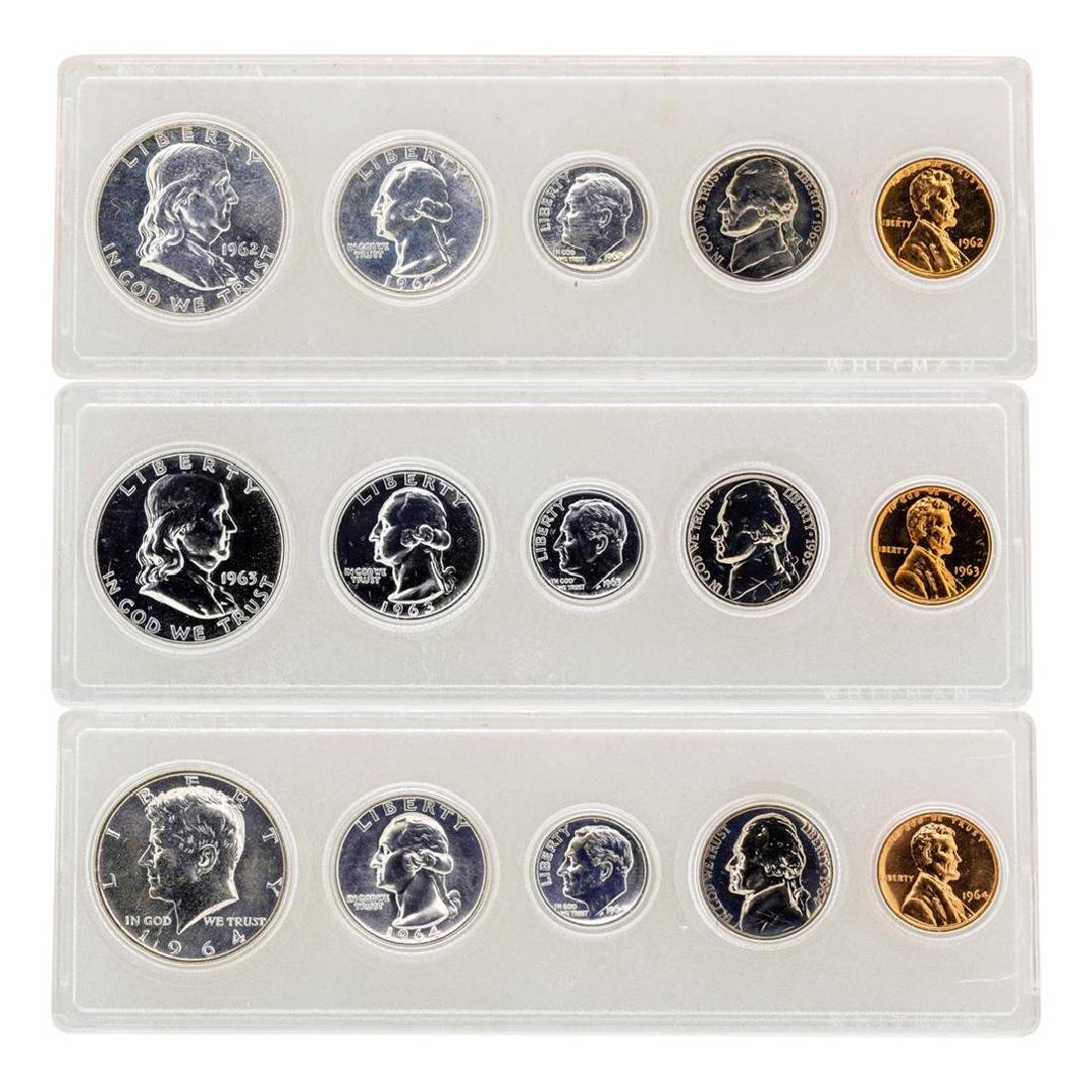 Lot of 1962-1964 (5) Coin Proof Sets