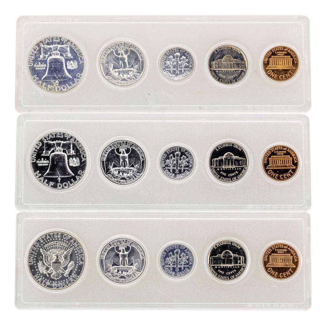 Lot of 1962-1964 (5) Coin Proof Sets - 2
