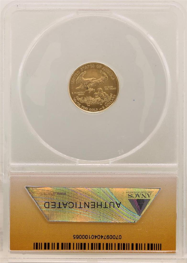 2014 $5 American Gold Eagle ANACS MS70 First Day of - 2