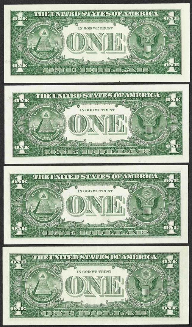Lot of (4) 1957 $1 Silver Certificate Notes - 2