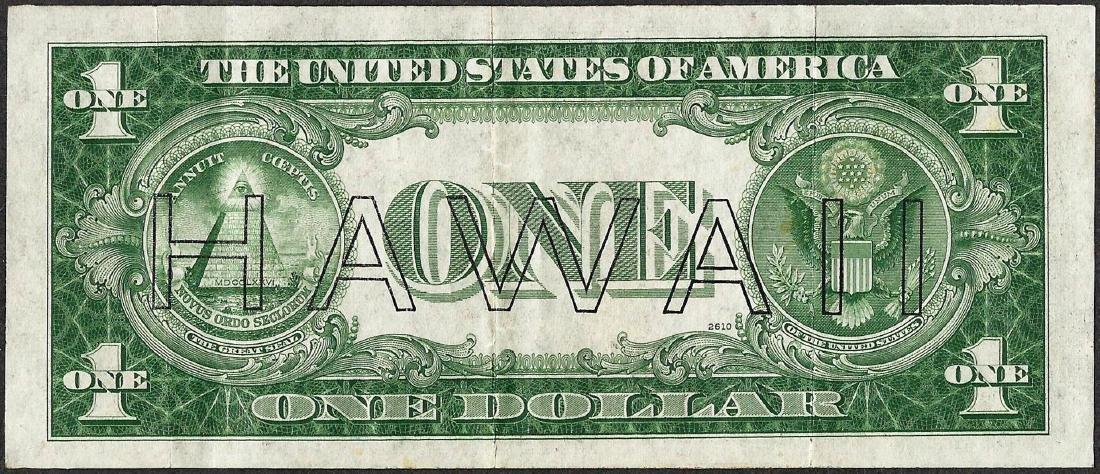 1935A $1 Hawaii Silver Certificate WWII Emergency Note - 2