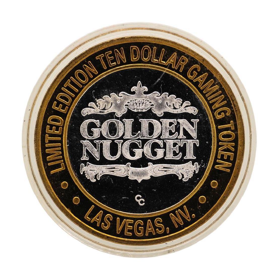 .999 Fine Silver Golden Nugget Las Vegas $10 Casino - 2
