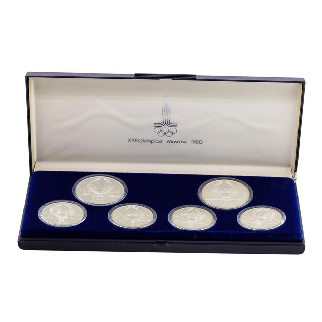 1980 Moscow Olympics (6) Coin Proof Silver Set