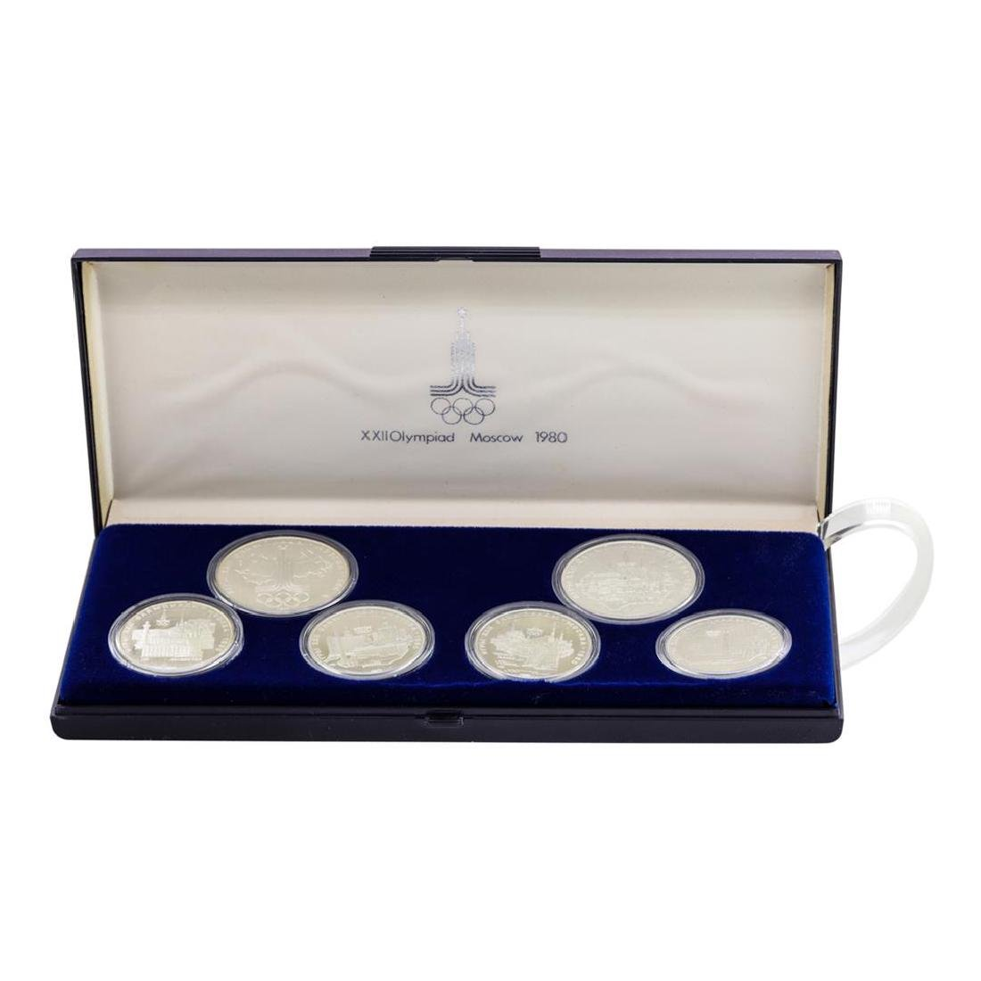 1980 Moscow Olympics (6) Coin Proof Silver Set - 2