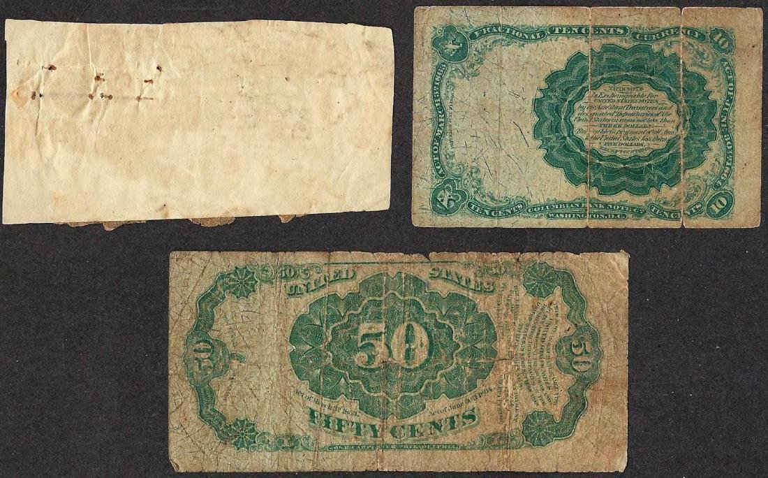Lot of (3) Misc. Fractional Currency Notes - 2