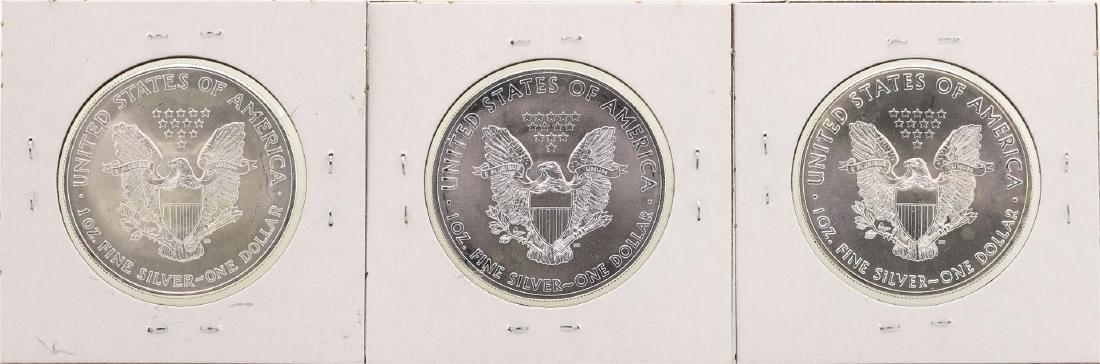 Lot of 2003, 2014, & 2016 $1 American Silver Eagle - 2