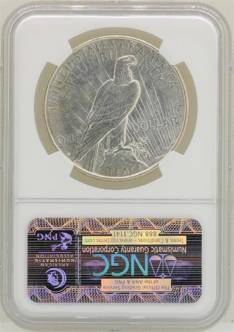 1926-D $1 Peace Silver Dollar Coin NGC MS63 - 2