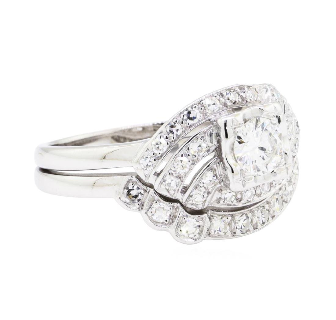 14KT White Gold 0.72 ctw Diamond Ring