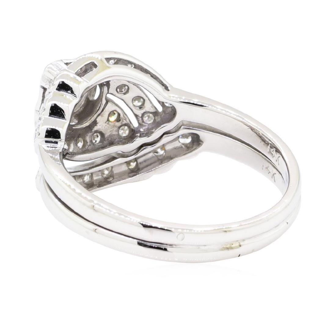 14KT White Gold 0.72 ctw Diamond Ring - 3