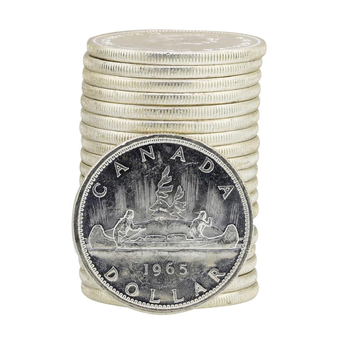 Roll of (20) 1965 Brilliant Uncirculated Canadian - 2