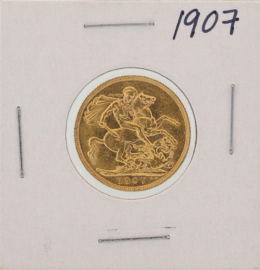 1907 Great Britain Sovereign Gold Coin