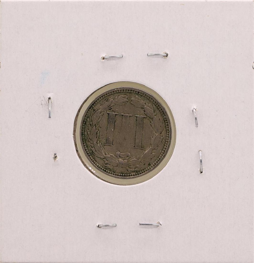 1866 Nickel Three Cent Piece Coin - 2