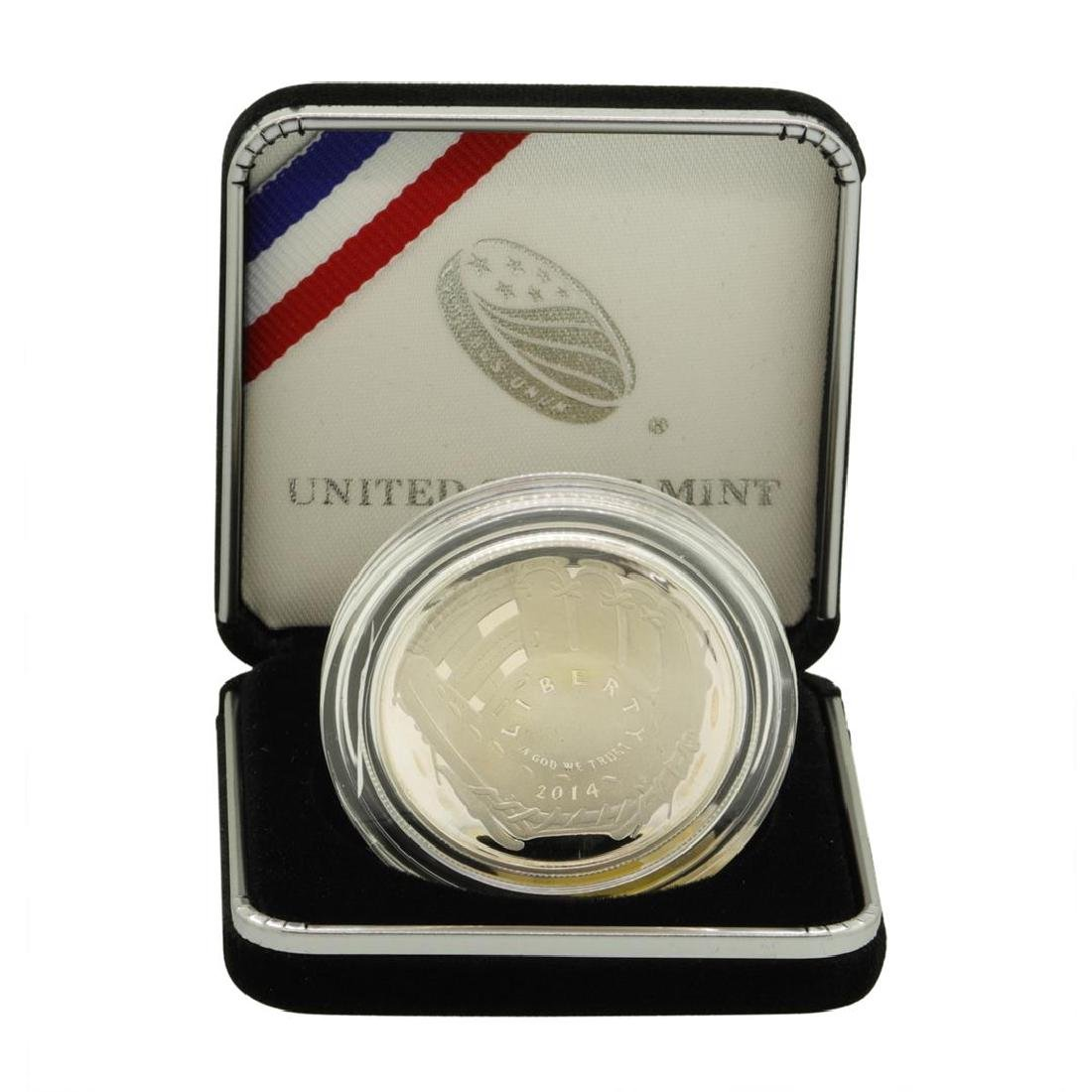 2014 $1 National Baseball Hall of Fame Proof Silver
