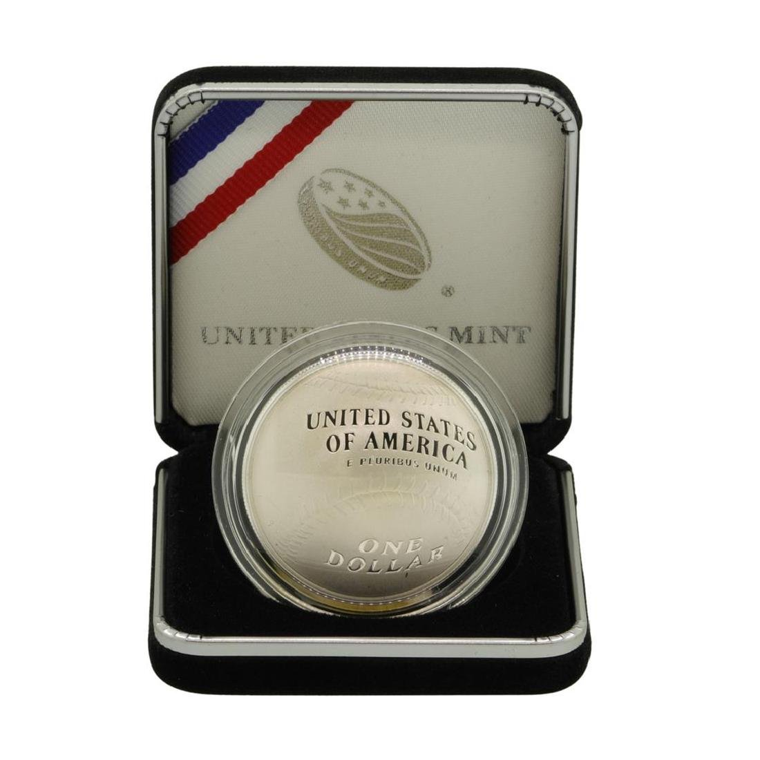 2014 $1 National Baseball Hall of Fame Proof Silver - 2