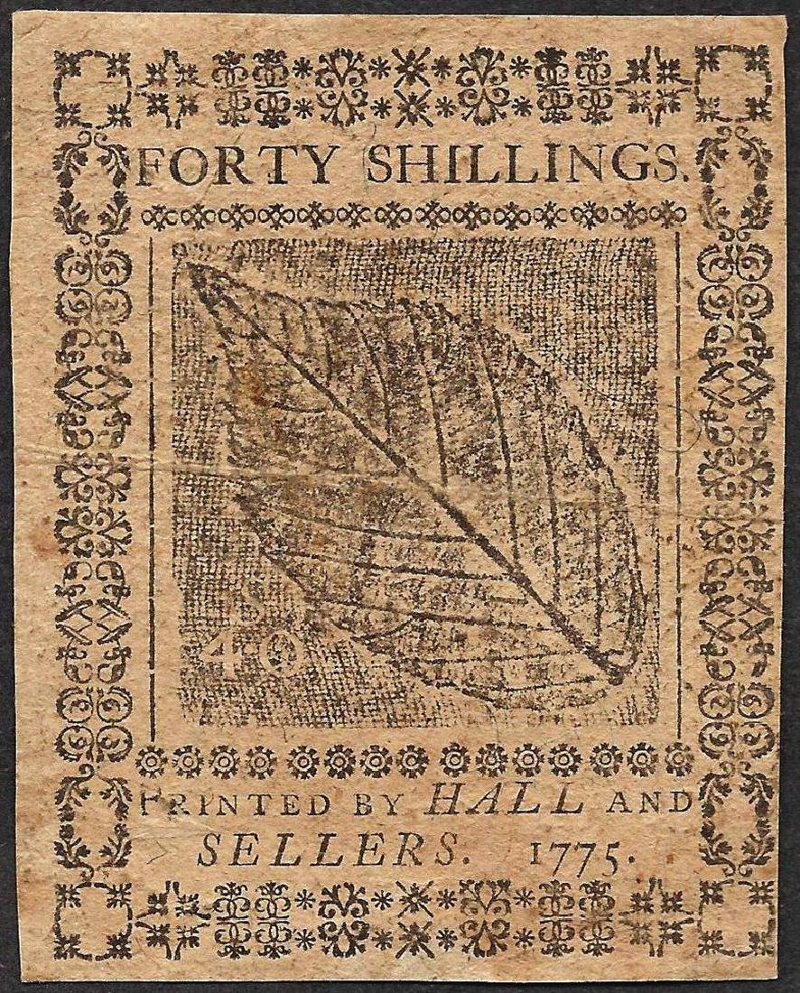 July 20, 1775 Forty Shillings Pennsylvania Colonial - 2