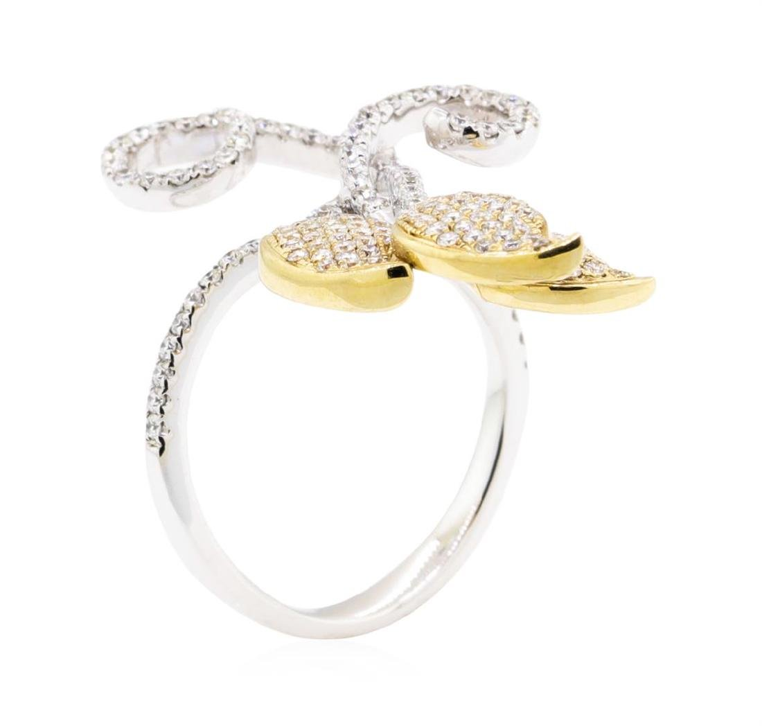 14KT White and Yellow Gold 0.80 ctw Diamond Ring - 3