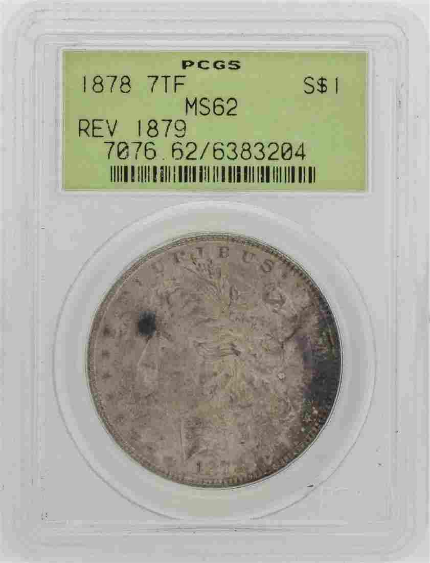 1878 7TF Reverse of 1879 $1 Morgan Silver Dollar Coin
