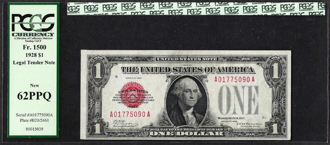 1928 $1 Legal Tender Note Fr.1500 PCGS New 62PPQ
