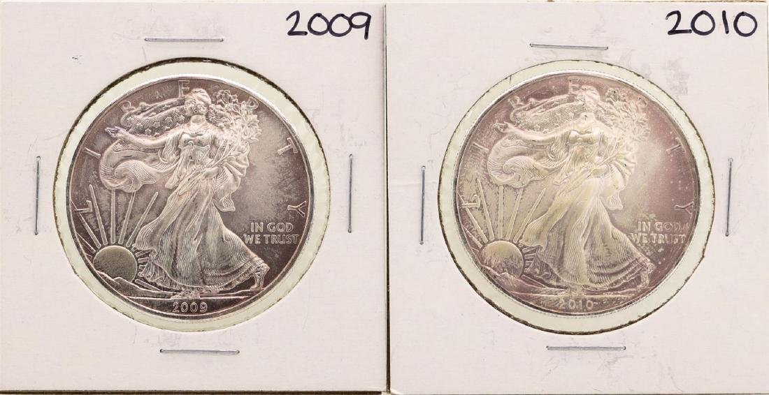 Lot of 2009-2010 $1 American Silver Eagle Coins