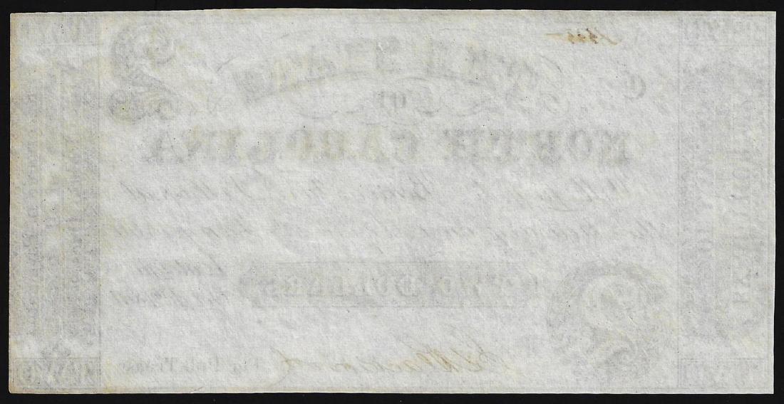 1866 $2 State of North Carolina Obsolete Note - 2