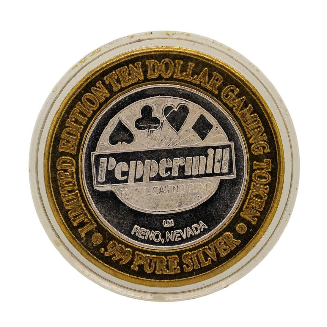 .999 Silver Peppermill Hotel Casino Reno, NV $10 Casino
