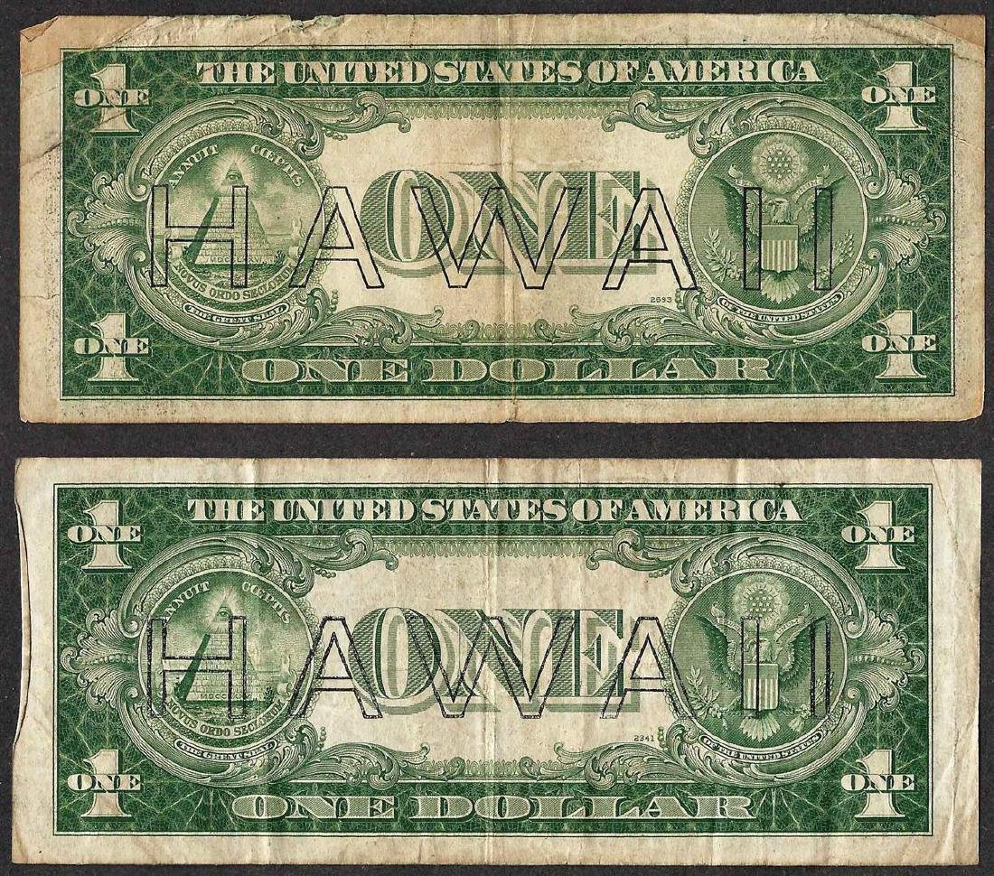 Lot of (2) 1935A $1 Hawaii Silver Certificate WWII - 2