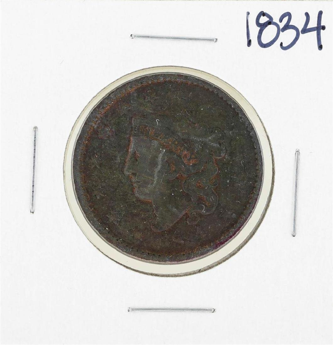 1834 Braided Hair Large Cent Coin