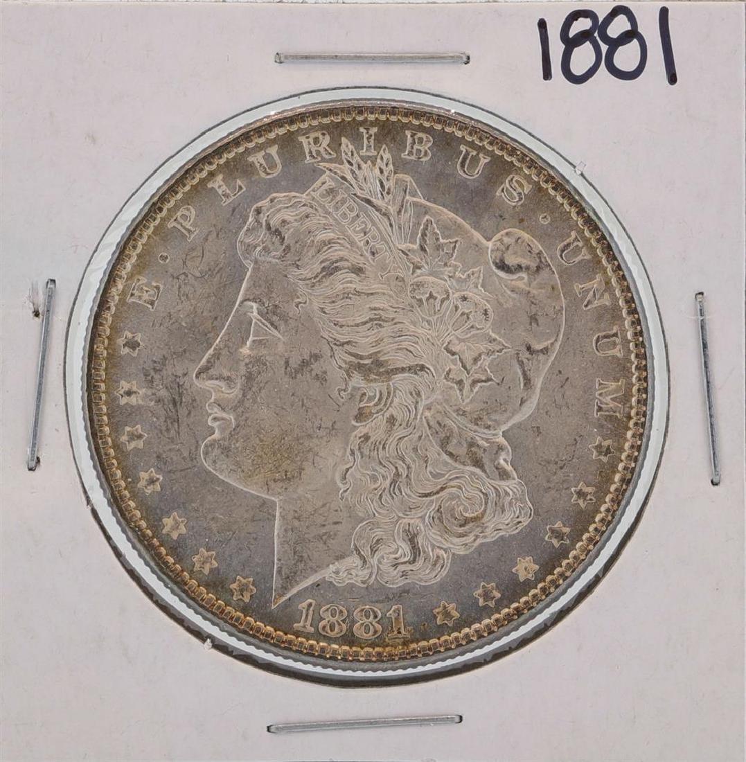 1881 $1 Morgan Silver Dollar Coin Amazing Toning
