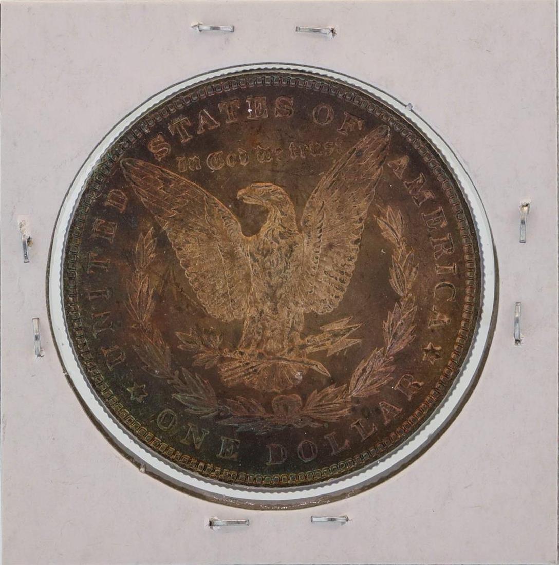 1881 $1 Morgan Silver Dollar Coin Amazing Toning - 2