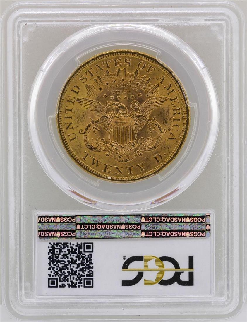 1873 Open 3 $20 Liberty Head Double Eagle Gold Coin - 2
