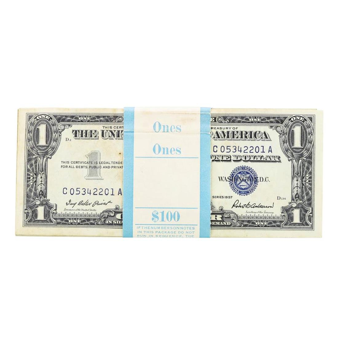 Pack of (100) Consecutive 1957 $1 Silver Certificate