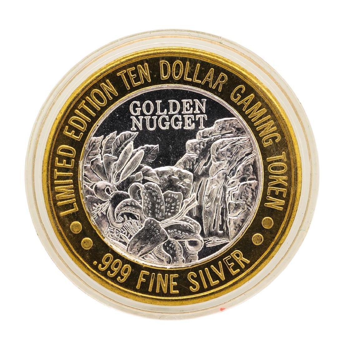.999 Fine Silver Golden Nugget Las Vegas $10 Casino