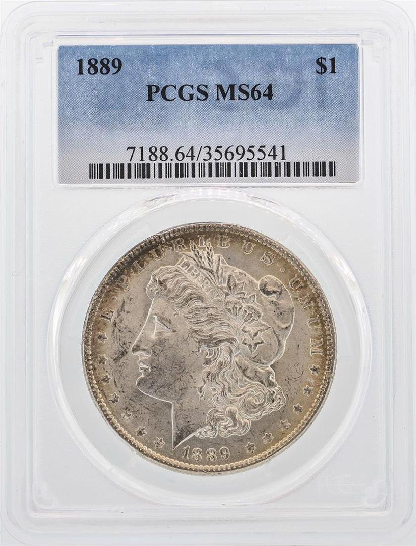 1889 $1 Morgan Silver Dollar Coin PCGS MS64