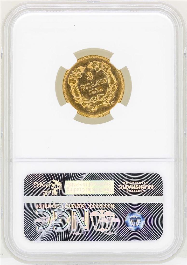 1878 $3 Indian Princess Head Gold Coin NGC AU55 - 2