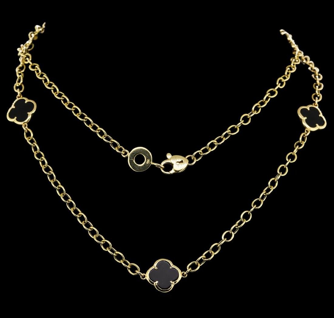 14KT Yellow Gold Onyx Necklace