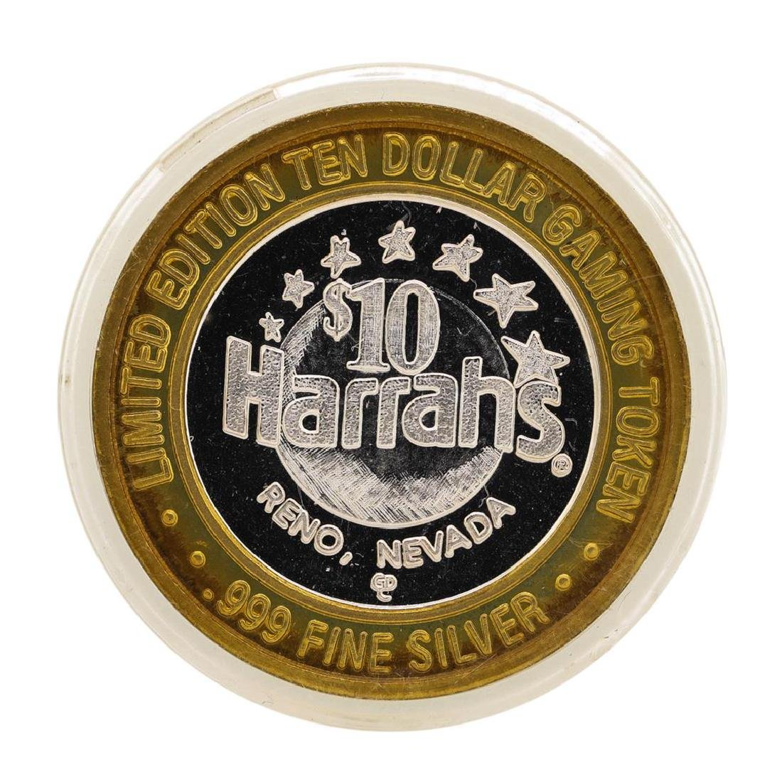 .999 Silver Harrah's Reno, Nevada $10 Casino Limited - 2