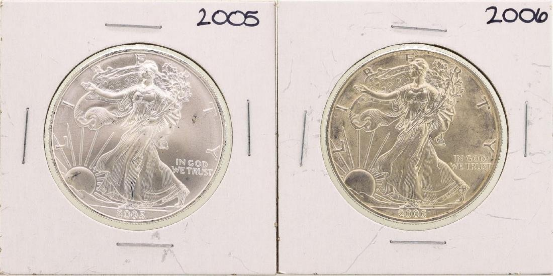 Lot of 2005-2006 $1 American Silver Eagle Coins