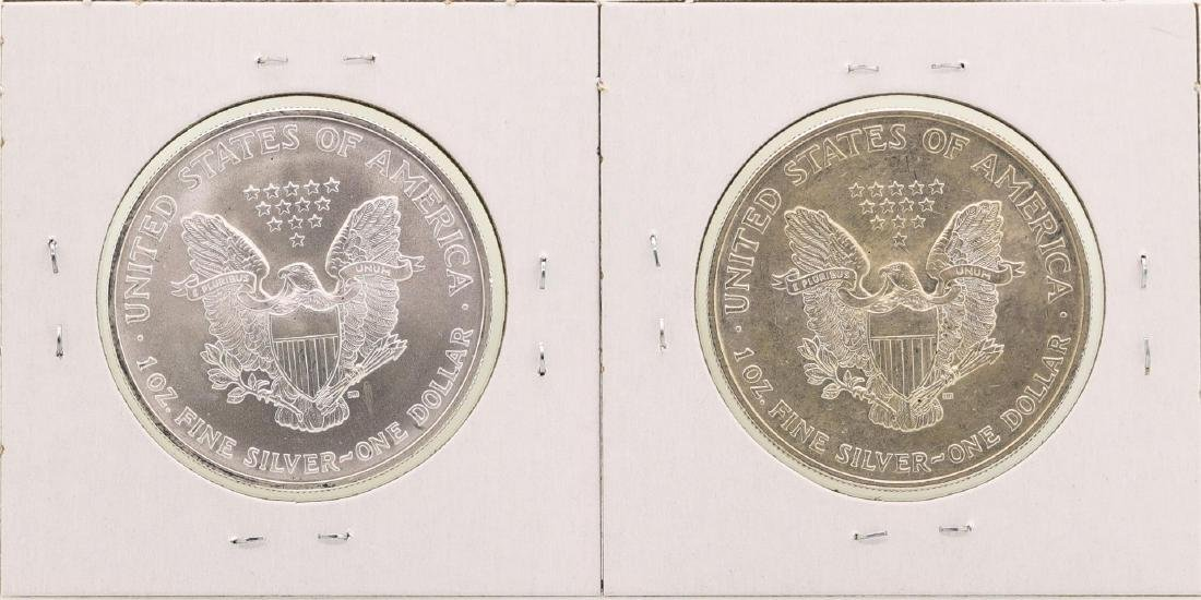 Lot of 2005-2006 $1 American Silver Eagle Coins - 2