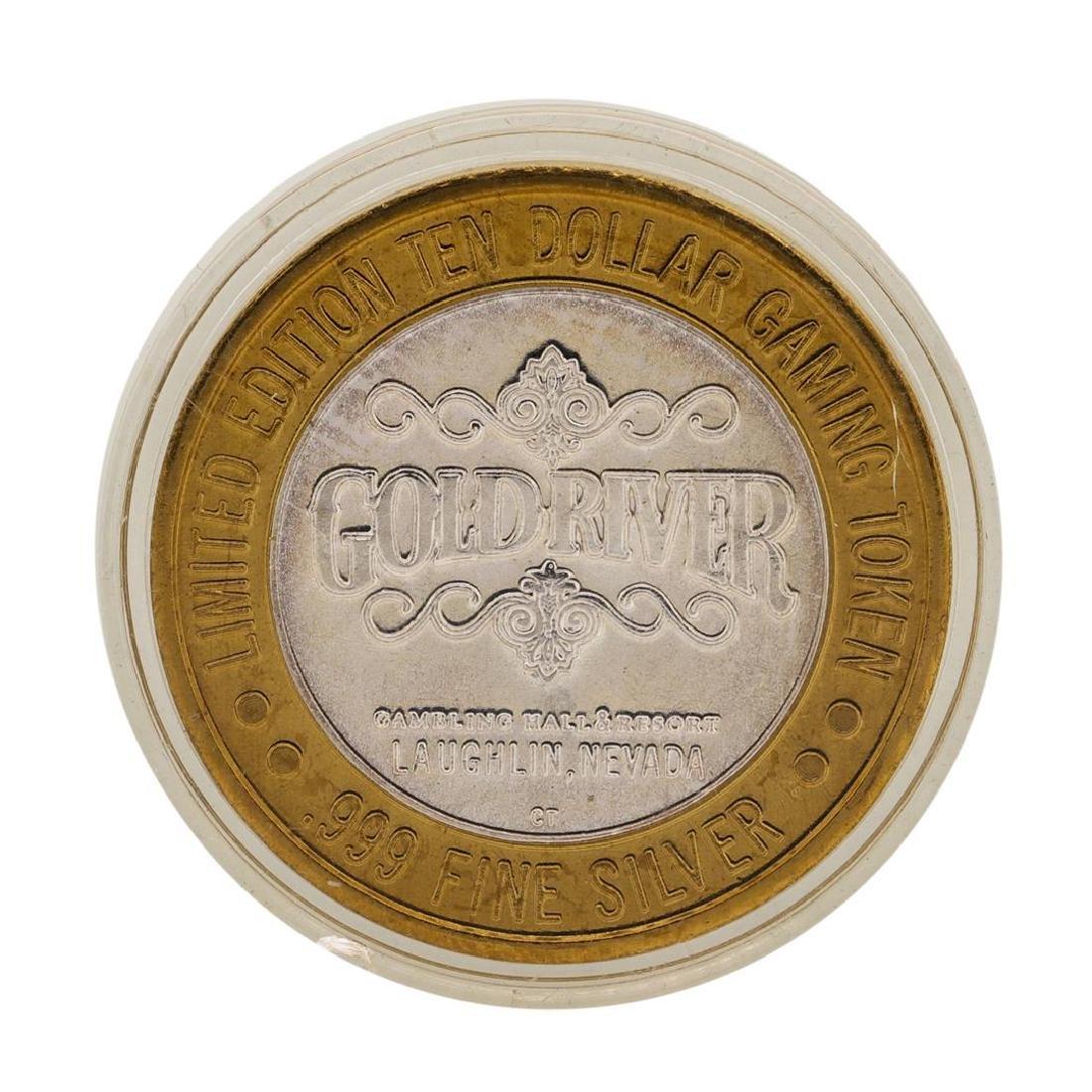 .999 Silver Gold River Laughlin, Nevada $10 Casino - 2